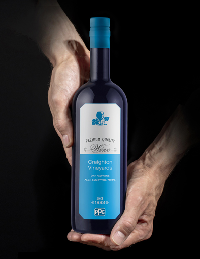 PPG TESLIN Wine Label